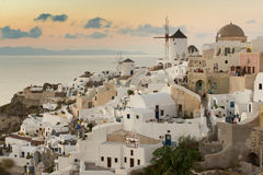 White architecture of Oia village on Santorini island, Greece Stock Image