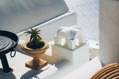 White architecture of Oia village on Santorini island, Greece.  Stock Photography