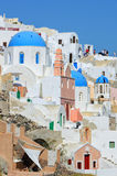 White architecture of Oia village on Santorini island, Greece. Oia village Santorini , Cylcades , Greece Royalty Free Stock Photography