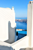 White architecture in Santorini island, Cyclades, Greece. White architecture in Santorini, Cyclades, Greece Royalty Free Stock Images