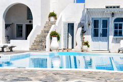 White architecture in Santorini island, Cyclades, Greece. White architecture in Santorini, Cyclades, Greece Royalty Free Stock Photography