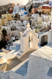 White architecture in Santorini island, Cyclades, Greece Stock Images