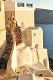 White architecture in Santorini island, Cyclades, Greece Royalty Free Stock Images