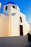White architecture in Santorini island, Cyclades, Greece Royalty Free Stock Photo