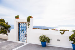 White architecture on Santorini island Stock Photography