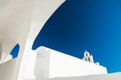 White architecture on Santorini island, Greece Stock Images