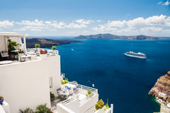 White architecture on Santorini island, Greece Stock Photography