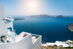 White architecture on Santorini island, Greece Royalty Free Stock Photo