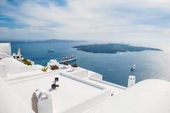 White architecture on Santorini island, Greece Royalty Free Stock Image