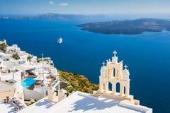 White architecture on Santorini island, Greece Stock Photos
