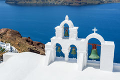 White architecture on Santorini island, Greece Stock Photography