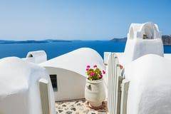 White architecture on Santorini island, Greece. Royalty Free Stock Image