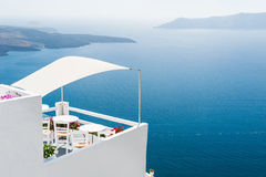 White architecture on Santorini island, Greece. Stock Photo