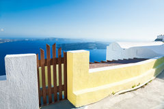 White architecture on Santorini island, Greece. Stock Images