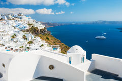 White architecture on Santorini island, Greece. Stock Image