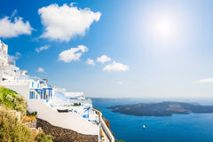 White architecture on Santorini island, Greece. Stock Image