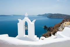 White architecture on Santorini island, Greece. Stock Photography