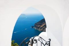 White architecture on Santorini island, Greece. Royalty Free Stock Photography