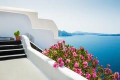 White architecture on Santorini island, Greece. Royalty Free Stock Photo