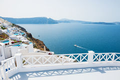 White architecture on Santorini island, Greece Royalty Free Stock Photography