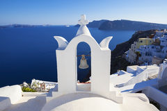White architecture on Santorini island Stock Photos