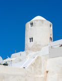 White architecture on Santorini island. Greece. Beautiful landscape with sea view Royalty Free Stock Photos