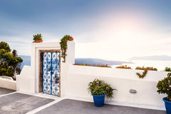 White architecture on Santorini island, Greece Stock Photos