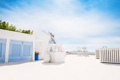 White architecture on Santorini island, Greece. Beautiful summer landscape Royalty Free Stock Photography
