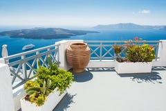 White architecture on Santorini island, Greece. Royalty Free Stock Photos