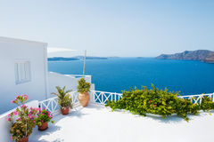 White architecture on Santorini island, Greece. Royalty Free Stock Photos