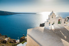 White architecture on Santorini island, Greece Stock Image