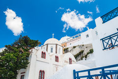 White architecture on Santorini island, Greece Stock Images