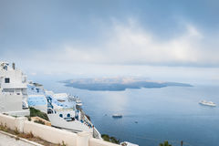 White architecture on Santorini island, Greece. Royalty Free Stock Photo