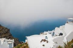 White architecture on Santorini island, Greece Stock Image