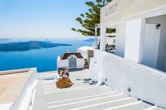White architecture on Santorini island, Greece. Royalty Free Stock Images