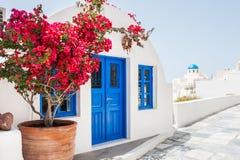 White architecture on Santorini island, Greece. White architecture in Oia town on Santorini island, Greece Royalty Free Stock Photos