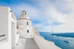 White architecture on Santorini island, Greece Royalty Free Stock Photo