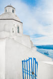 White architecture on Santorini island, Greece. Stock Images