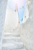 White architecture on Santorini island, Greece Royalty Free Stock Images