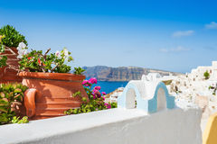 White architecture on Santorini island, Greece. Selective focus Stock Image