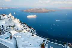White architecture on Santorini island, Greece. Summer landscape, sea view Stock Image