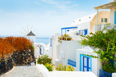 White architecture on Santorini island, Greece. Travel and vacation Stock Photo