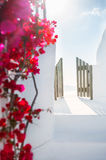 White architecture on Santorini island, Greece. Travel and vacation Royalty Free Stock Images