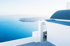 White architecture on Santorini island, Greece. Travel and vacation Royalty Free Stock Photos