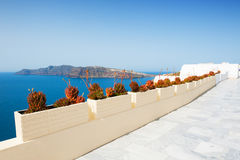 White architecture on Santorini island, Greece. Travel and vacation Royalty Free Stock Photography