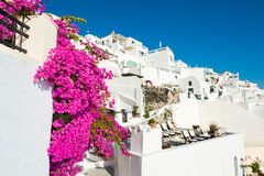 White architecture on Santorini island, Greece. Travel and vacation Stock Image