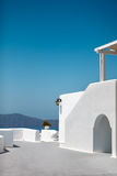 White architecture of Santorini island Royalty Free Stock Photo