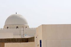 White architecture in the tunisian city of Kairoua Royalty Free Stock Photo