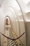 White archway corridor, casa Batllo interior Royalty Free Stock Photo