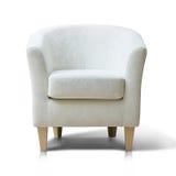 White armchair. Isolated on white background Royalty Free Stock Photos